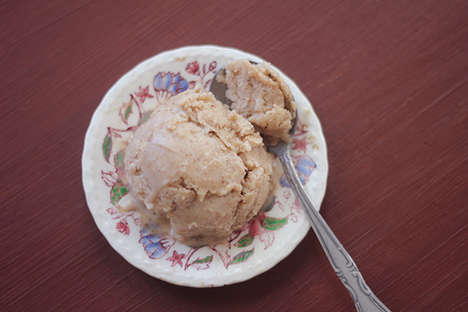 Almond Butter Ice Cream - This Healthy Homemade Banana Ice Cream is Easy to Make Any Time of Year