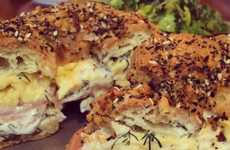 Everything Bagel Eclairs - Paris-Bresse Breakfast Sandwich Has an Egg Pastry Bun Stuffed with Salmon
