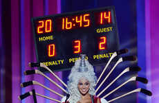 Pageant Hockey Costumes - Miss Universe Canada's National Outfit Boasts a Corset and Scoreboard