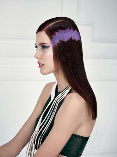 Pixel Art Hairstyles - Revlon Professional's Latest Collection Shows Off Pixel Hair Styles