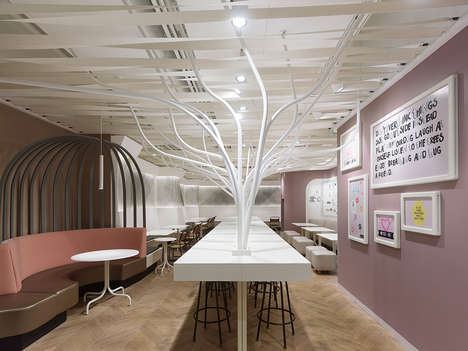 Whimsical Health Restaurants - Not Guilty Experiments with Fun Restaurant Design Ideas