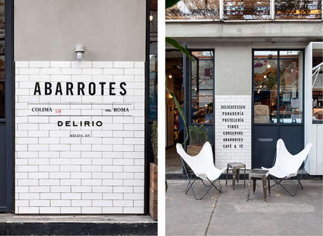 Minimalist Menu Boards - Abarrotes Delirio's Minimalist Menu Catches the Eye