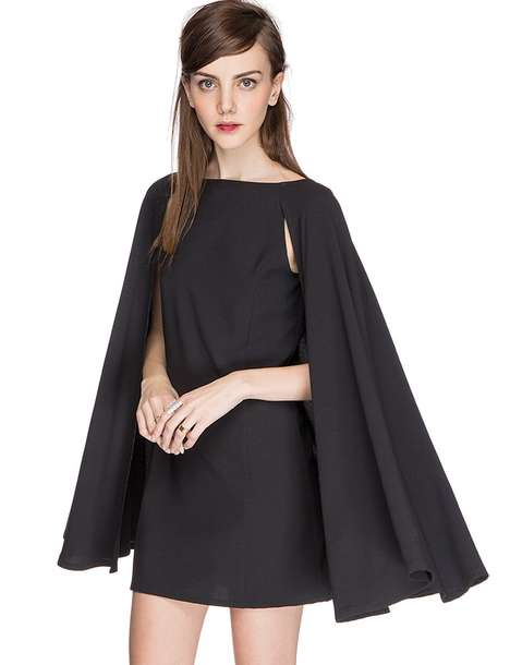 Caped Cocktail Dresses - Pixie Market's Little Black Dress is Vampy and Daring