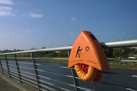 Handy Looped Lifesavers - The Ubuoy Has Been Specially Designed for the Victim's Easy Grasp