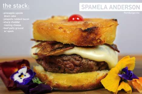 Spam Pineapple Burger Creations - PornBurger's The Spamela Anderson Uses Upside Down Pineapple Cake