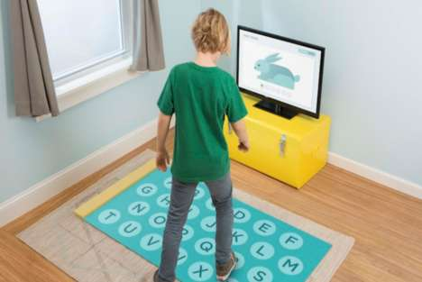 Kinetic Spelling Games - Spelling Stomp Has Kids Step on an Interactive Mat to Learn Words