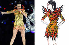 Superbowl Fashion Sketches - These Katy Perry Halftime Outfits are Created by Jeremy Scott