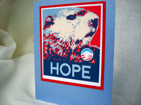 Presidential Groundhog Greetings - This Obama 2008 Campaign-Themed Groundhog Day Card Offers Hope