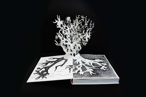 Flemish Pop-Up Books - Tim Bisschop's Het Westen Zilte Book Celebrates Ethnic Motifs