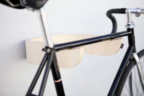 Beautiful Basic Bike Racks - Pau Bicycle Wall Rack is a Brace that Blends into Your Interior Decor