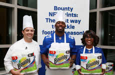 Healthy Tailgating Demos - Bounty Towels Teams Up with New York Giants for Fun Food Prep