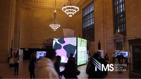 LED Tissue Box Installations - The Kleenex x Isaac Mizrahi Collection Becomes Interactive Art