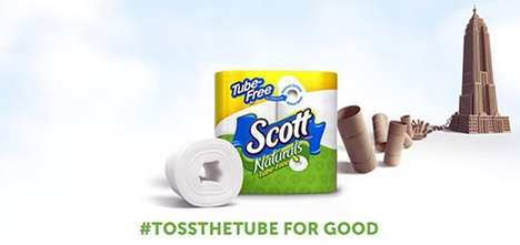 Eco-Friendly Hashtag Campaigns - Scott Brand's Toss the Tube Initiative Promotes Tube-Free Tissues