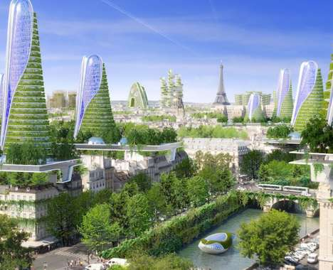 Futuristic Ecological City Blueprints