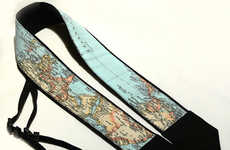Topographical Electronic Straps - The World Map Camera Strap is not for the Directionally Challenged