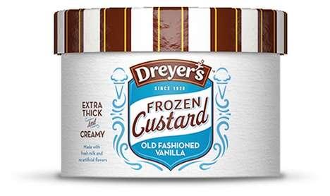 Custard Ice Creams - Dreyer's Frozen Custard Ice Cream Adds a Chill to a Classic Dessert