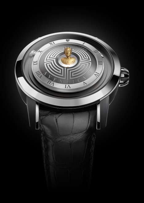 Emperor-Embedded Watches - The Aventicum Watch's Dial Features a Floating Roman Emperor