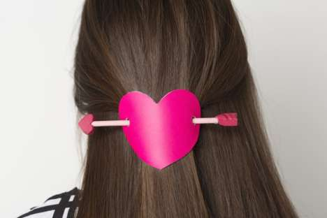 Girly Valentine's Day DIYs - Ashley Isenhour's Heart and Arrow Hair Pin is Romantic