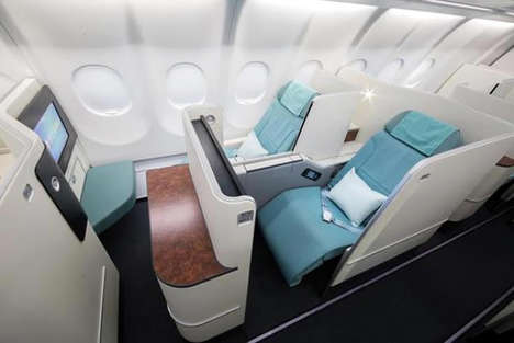 Compartmentalized Airline Cabins - Korean Air's Prestige Suites Feature More Space and Privacy
