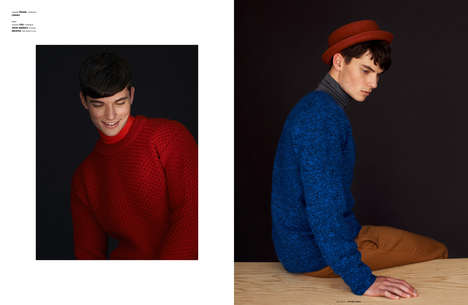 Timeless Knitwear Editorials - The Ones 2 Watch Closet Romantic Image Series Boasts Preppy Menswear