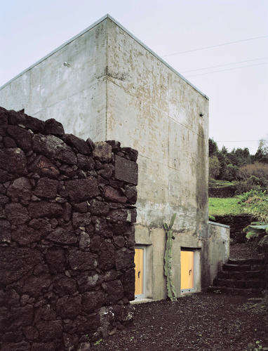 Ruin-Incorporating Architecture - This Pico Island Home Perfectly Blends Old and Modern Elements