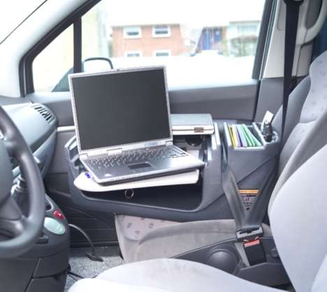 Car Computer Stations - Mobil Office's Car Laptop Stand Doubles as a Place to Power Up