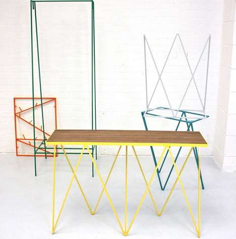 Vibrant Wire Furniture - &New;'s 'Less is Fun' Collection Marries Clean Forms and Colorful Hues