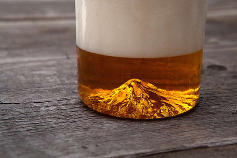 Mountainous Beer Glassware - The Oregon Pint Glass Brings a Whimsical Touch of Nature to Drinking
