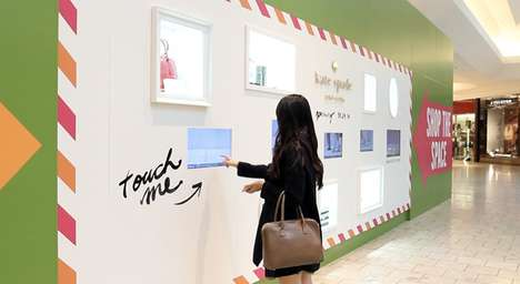 Shoppable Construction Barriers - Kate Spade's 'Coming Soon' Wall is an Interactive Retail Platform