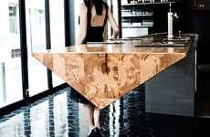 Prismatic Dining Tables - This Cantilevered Table Offers Creative Spatial Solutions