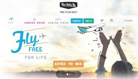 Rewarding Travel Campaigns - Schick's Travel Contest Offers Flights, Drives and Shopping to Winners
