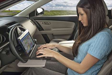 17 Examples of In-Car Productivity - From Steering Wheel Desks to Automobile Air Purifiers
