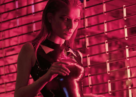 Rose-Hued Nightlife Photography - Hedonist Magazine's Electric Charged Editorial is Seductive