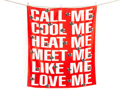 Charitably Romantic Towels - Barbara Kruger's 'Artist Towel' Helps Fund Public Art Projects