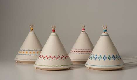 Cozy Tipi Lamps - These Tent-Shaped Illuminators Exude Warmth, Imagination and Tradition