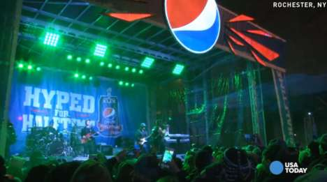 Sporty Street Parties - The Pepsi Hyped for Halftime Show Pumped Up a Small City