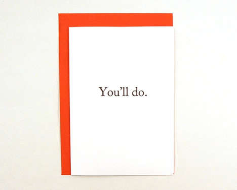 Blunt Valentine Greetings - This Funny Valentine Day Card Encourages Charitable Acts on February 14