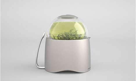 Dew Drop Teapots - This Steamer Kettle Reimagines the Ritual of Preparing Green Tea