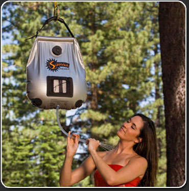 Portable Outdoor Showers - Summer Shower is Solar-Powered to Supply Comfortable Hot Water
