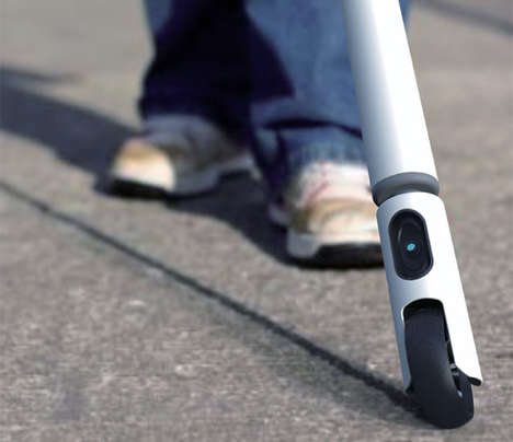 Wheeled Walking Sticks - 'Take Me Away' is a Smart Cane for Guiding the Visually Impaired