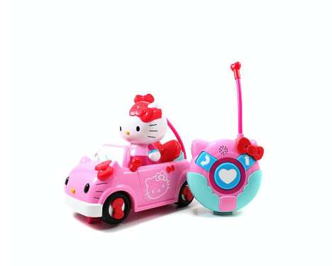 Adorable Feline Automobiles - The Hello Kitty Remote Control Vehicle is Super Sweet