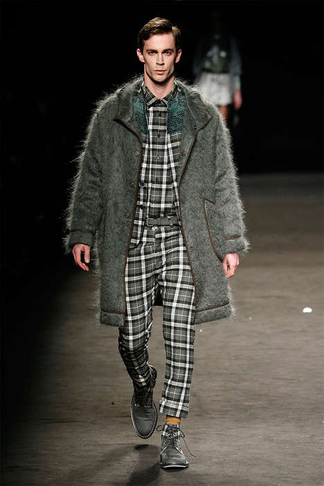 Layered Texture Menswear - Custo Barcelona Fall/Winter 2015 Collection Celebrates Tactile Fabrics