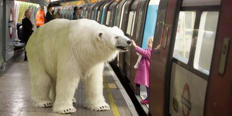Animal Underground Commuters - Sky Atlantic Put a Polar Bear on the Subway to Promote a New TV Show