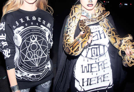 Symbolic Occult Catalogs - Killstar's At Midnight Lookbook Features Gothic Fashion Staples