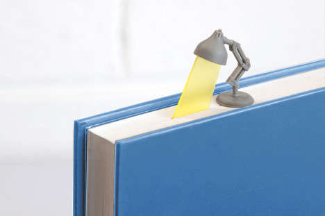 Spotlight Page Savers - This Desk Lamp Bookmark is a Lightless Reading Lamp