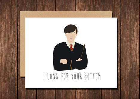 Magically Punny Greeting Cards - The Harry Potter Valentine Features Neville Longbottom's Wand