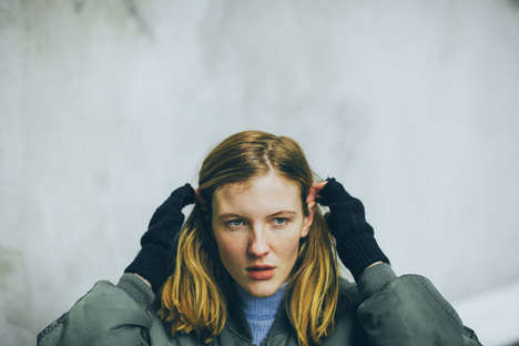Girlish Winter Editorials - Rupert LaMontagne Photographs Winter Walks for C-Heads