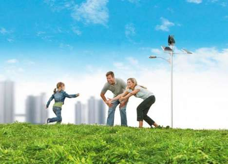 Green Streetlamp Designs - Sun and Wind-Powered Streetlights Generate the Energy That They Consume