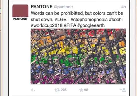 Rooftop LGBT Collages - Pantone Will Create a Massive LGBT Flag in Russia During the 2018 World Cup