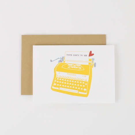 Naughty Vintage Valentines - The Type Dirty To Me Valentine's Day Card Features a Typewriter Graphic